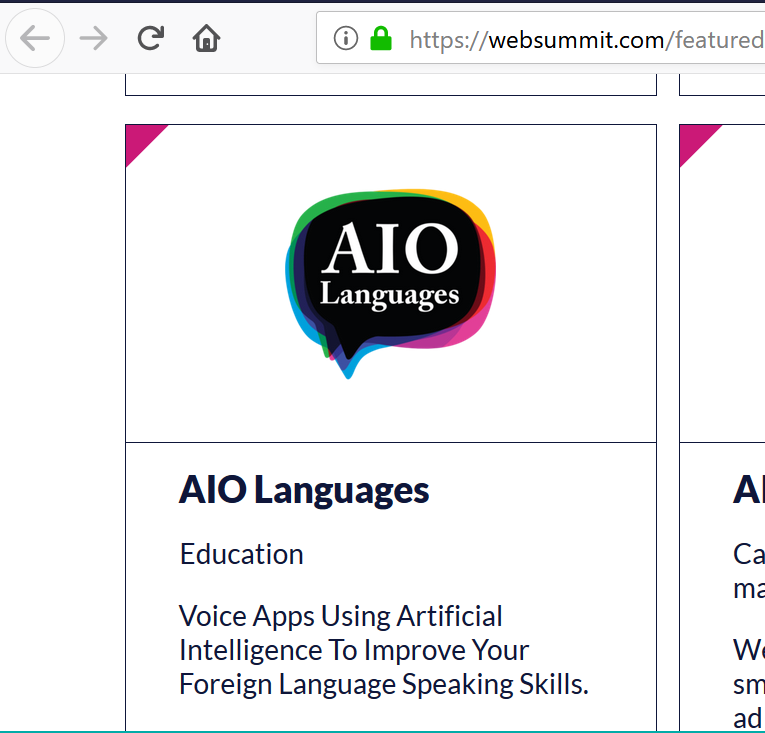 AIO Language Learning apps at the conference.